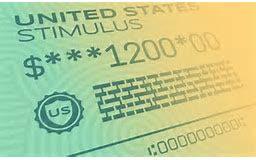 Résultat de l'image pour un chèque de relance de 1200 dollars