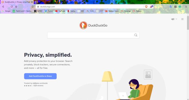 DuckDuckGo ne m'a pas accompagné pendant mon expérience d'utilisation de Brave Browser