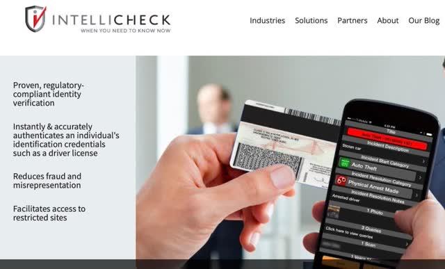 Carte d'identité de détail Intellicheck