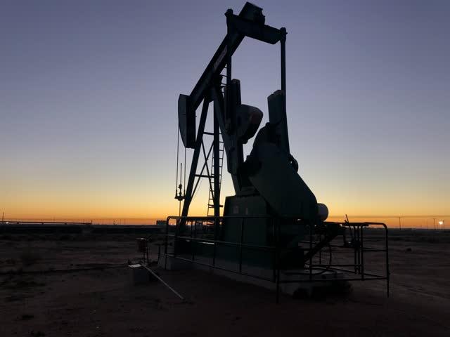 Une pompe à derrick pour le pétrole