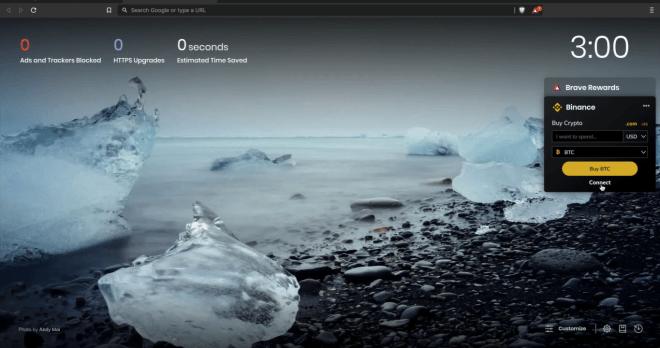 Binance lance un widget dans Brave Browser