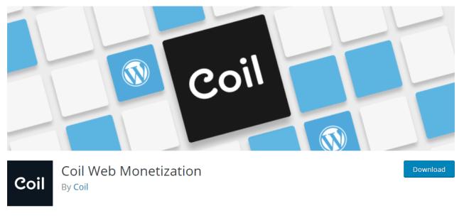Coin Web Monetization, le plugin permettant de recevoir Ripple pour notre contenu, est disponible sous WordPress.
