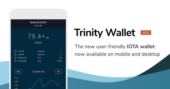Interface d'application mobile Trinity Wallet