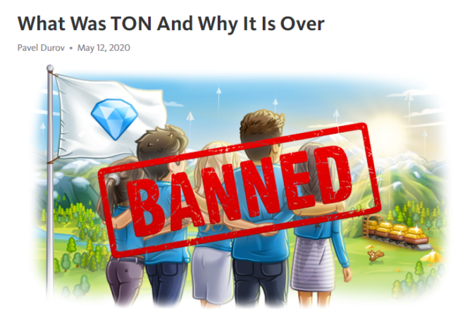 Avec ce poste, le PDG de Telegram a annoncé le coup de grâce donné à TON par la SEC.
